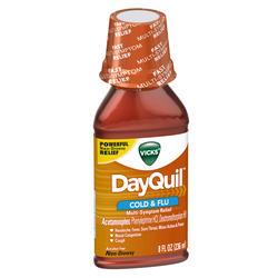Vicks DayQuil Cold & Flu Multi-Symptom Relief Liquid - 8 oz