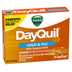 Vicks DayQuil Cold & Flu Multi-Symptom Relief LiquiCaps - 24-ct