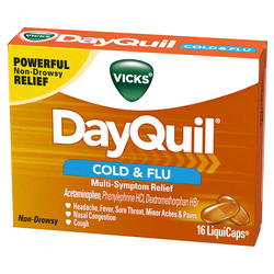 Vicks DayQuil Cold & Flu Multi-Symptom Relief LiquiCaps - 16-ct