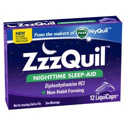 Vicks ZzzQuil Nighttime Sleep-Aid LiquiCaps - 12-ct