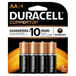 Duracell CopperTop AA Alkaline Batteries - 4-pk