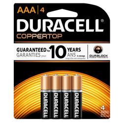 Duracell CopperTop AAA Alkaline Batteries - 4-pk