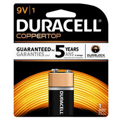 Duracell CopperTop 9V Alkaline Battery