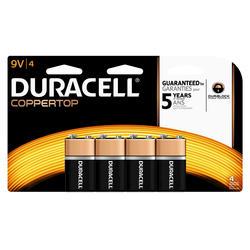 Duracell CopperTop 9V Alkaline Batteries - 4-pk