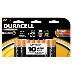 Duracell CopperTop AA Alkaline Batteries - 16-pk