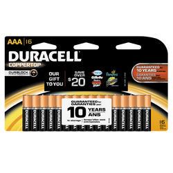 Duracell CopperTop AAA Alkaline Batteries - 16-pk