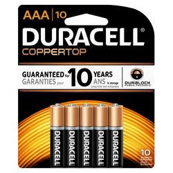 Duracell CopperTop AAA Alkaline Batteries - 10-pk