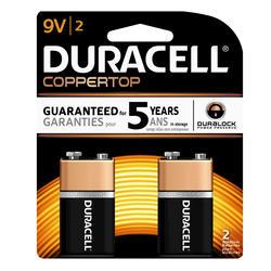 Duracell CopperTop 9V Alkaline Batteries - 2-pk