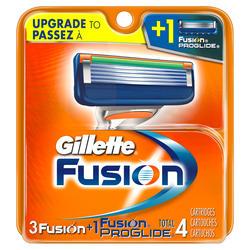 Gillette Fusion Men's Razor Cartridge Refills - 4-ct