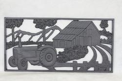 "28""W x 14""H Tractor Cast Iron Panel"