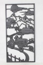 "14""W x 28""H Tractor Cast Iron Panel"