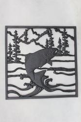 "14""W x 14""H Fish Cast Iron Panel"