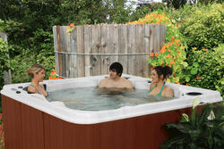 Sturgeon Bay 6-Person 93-Jet Spa with (2) 5.0 HP BT Pumps, Ultra Wave Lounger and Wow Sound Stereo with FREE ENERGY SAVER PACKAGE
