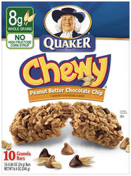 Quaker Chewy Peanut Butter Chocolate Chip Granola Bars - 8-pk