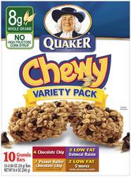 Quaker Chewy Variety Pack Granola Bars - 8-pk
