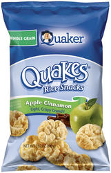 Quaker Quakes Apple Cinnamon Rice Snacks - 3.52 oz