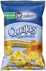 Quaker Quakes Cheddar Cheese Rice Snacks - 3.03 oz