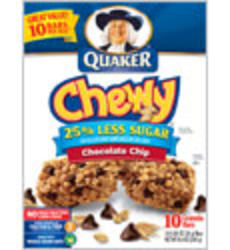 Quaker Chewy Chocolate Chip Granola Bars - 8-pk