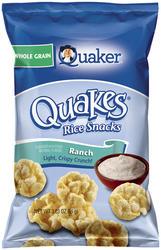 Quaker Quakes Ranch Rice Snacks - 3.03 oz