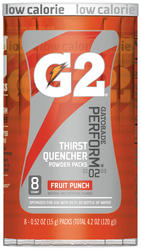 Gatorade G2 Fruit Punch Powder Drink Mix - 8-pk