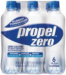 Propel Zero Blueberry-Pomegranate Flavored Water - 6-pk