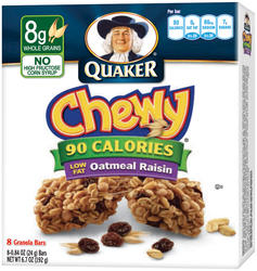 Quaker Chewy Oatmeal Raisin Granola Bars - 8-pk
