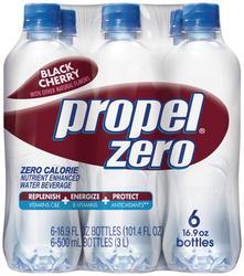 Propel Zero Black Cherry Flavored Water - 6-pk