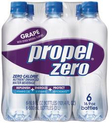 Propel Zero Grape Flavored Water - 6-pk
