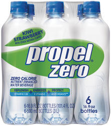 Propel Zero Kiwi-Strawberry Flavored Water - 6-pk