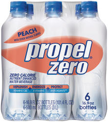 Propel Zero Peach Flavored Water - 6-pk