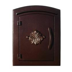 Manchester Scroll Door Non-locking Column Mount Mailbox