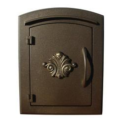 Manchester Scroll Door Security Option Column Mount Mailbox
