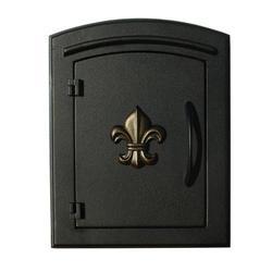 Manchester Fleur De Lis Door Security Option Column Mount Mailbox