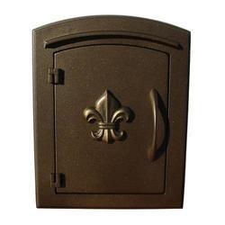 Manchester Fleur De Lis Door Non-locking Column Mount Mailbox