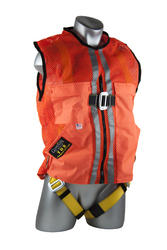 Qualcraft® Guardian Fall Protection™ M Orange Mesh Construction Tux