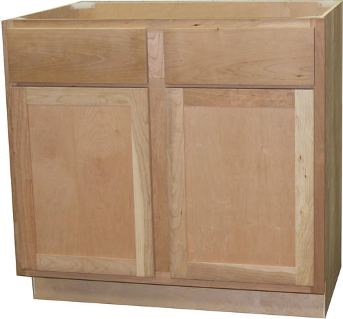"Menards Unfinished Kitchen Cabinets: Quality One™ 36"" X 34-1/2"" Unfinished Cherry Sink Base"