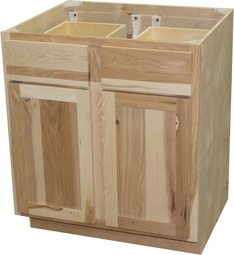 "Menards Unfinished Kitchen Cabinets: Quality One™ 30"" X 34-1/2"" Unfinished Hickory Double Base"