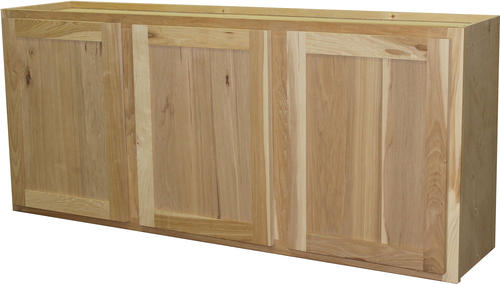 "quality one™ 54"" x 24"" unfinished hickory laundry wall"