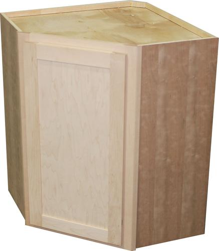 Quality one 24 x 30 unfinished maple diagonal corner wall cabinet at menards - Unfinished kitchen cabinets menards ...