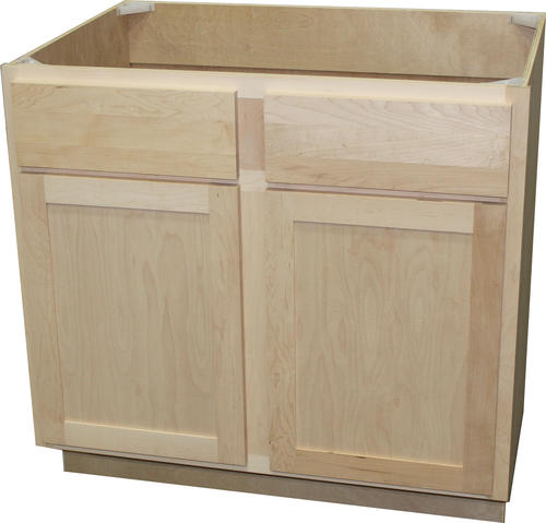 """Quality One™ 36"""" x 34-1/2"""" Unfinished Maple Sink Base ..."""
