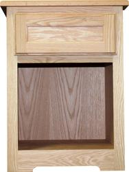"Quality One™ 18"" x 24"" x 18"" Unfinished Oak Night Stand with Drawer"