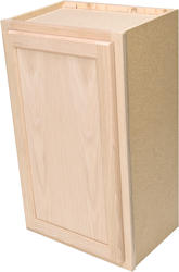 "Quality One™ 15"" x 30"" Unfinished Oak Standard Wall Cabinet"