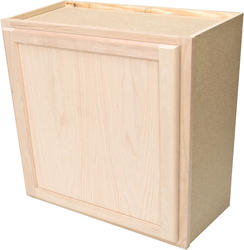 "Quality One™ 24"" x 30"" Unfinished Oak Standard Wall Cabinet"