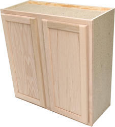 "Quality One™ 30"" x 30"" Unfinished Oak Standard Wall Cabinet"