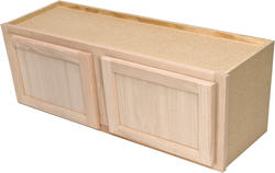 "Quality One™ 36"" x 15"" Unfinished Oak Over-an-Appliance Wall Cabinet"