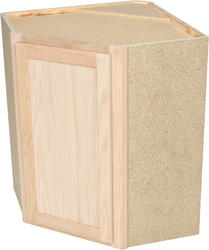 "Quality One™ 24"" x 30"" Unfinished Oak Diagonal Corner Wall Cabinet"