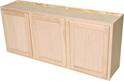 "Quality One™ 54"" x 24"" Unfinished Oak Laundry Wall Cabinet"