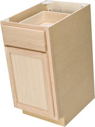 "Quality One™ 15"" x 34-1/2"" Unfinished Oak Base Cabinet with Drawer"