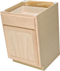 "Quality One™ 24"" x 34-1/2"" Unfinished Oak Base Cabinet with Drawer"