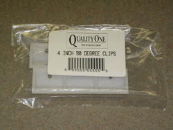 "Quality One™ 4"" 90&176; White Plastic Drawer Clips - 2 pk."